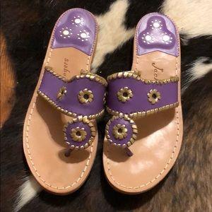 Custom Brand New Purple and Gold Jack Rogers